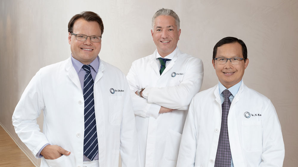 Founders of the institute for erectile dysfunction: Dr. Regli, Prof. Diehm, Dr. Keo
